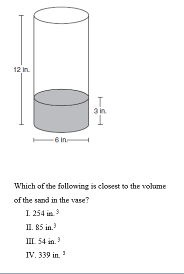 Solved Question 10 A Cylindrical Glass Vase Is 6 Inches I
